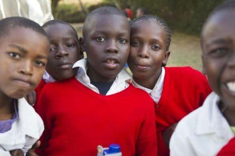 Five school children