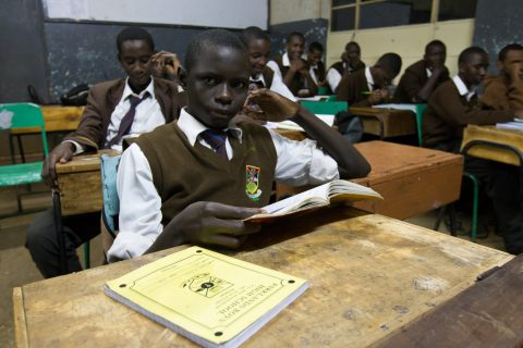 Friends of Ngong Road student in class