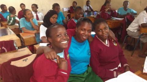 FoNR girls in class at St.Tito
