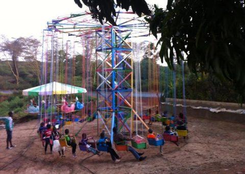 Little kid camp swings