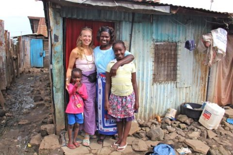 Midge Steuber and Sponsored Student Family
